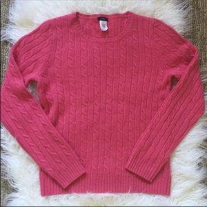 J.Crew cashmere, wool, angora crew neck sweater.